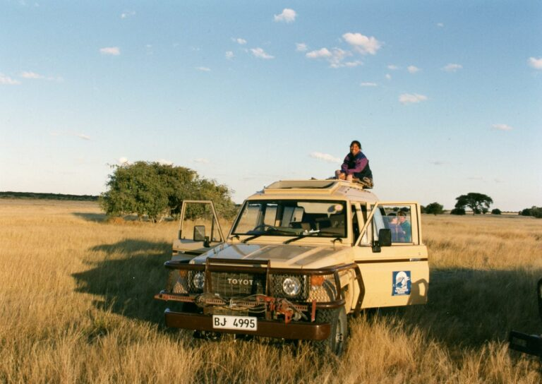 On safari in Botswana. Courtesy of Andrew Meissner, reprinted with permission.
