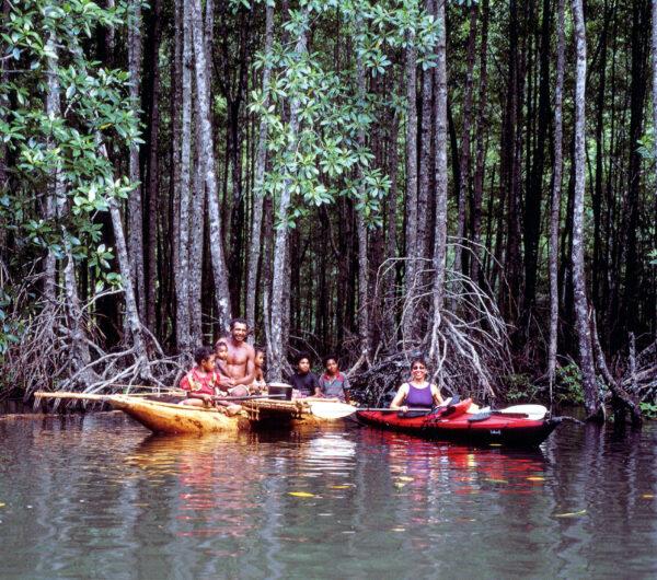 Margo kayaking near Tufi, Papua New Guinea. Courtesy of David Nitsch, reprinted with permission.